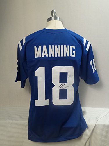 (Peyton Manning Signed Indianapolis Colts Autographed Blue MVP Jersey Superbowl)