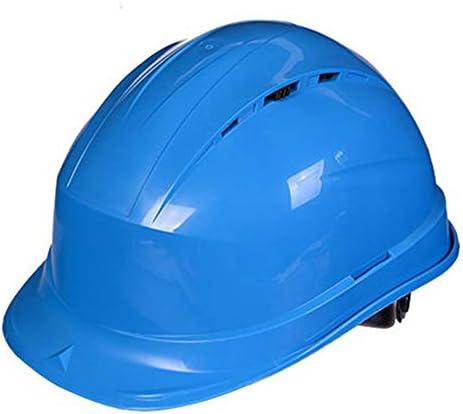 XINGZHE 建設ヘルメットキャップスタイルのハード帽子調整可能なラチェット8 Ptサスペンションハード非換気帽子調節可能なヘルメットPPエンジニアリングヘルメ 安全ヘルメット (Color : Blue)