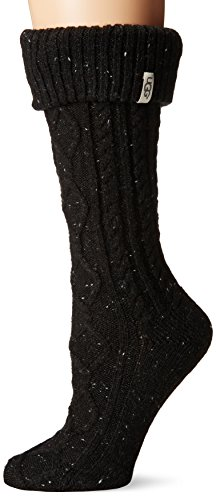UGG Women's Shaye Tall Rainboot Sock, black, O/S (Womans Boot Liners)