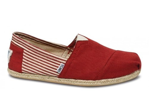 - TOMS Men's Classic Rope Slip-On,University Red,8.5 M