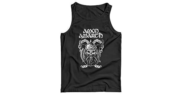 LaMAGLIERIA Camiseta de Tirantes Hombre Amon Amarth Viking Skull - 100% Algodòn wAqiD