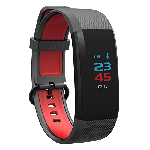 Activity Tracker Smart Watch, Bluetooth Passover Fitness Heart Rate Monitor Silicone Waterproof Band, Men Women 's Wearable Watch for Android Phone