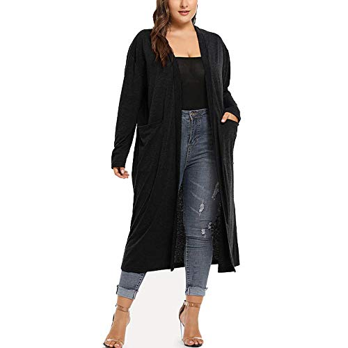 Nordstrom Cashmere Cardigan - URIBAKE ❤ Fashion Women's Cardigan Autumn Winter Plus Size Long Sleeve Waterfall Open Front Outerwear Black