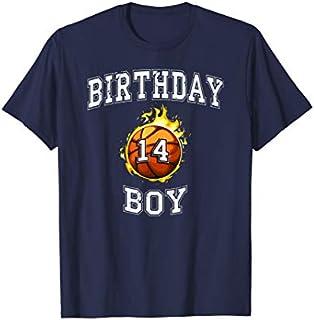 14th Birthday Boy t-shirt basketball shirt 14 years old T-shirt | Size S - 5XL