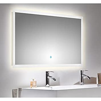 Lomadox Badezimmer Led Spiegel 120cm Touch Funktion Und Led