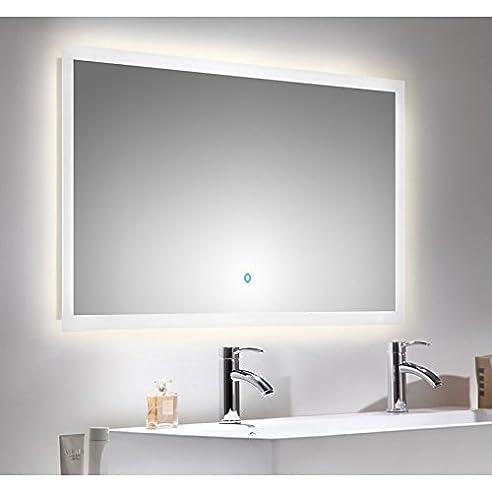 Badezimmer LED Spiegelschrank 120cm ● Touch - Funktion und ...