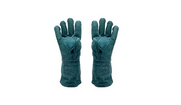 TYXHZL Guantes de Soldadura Cuero Engrosamiento Seguro de Trabajo Anti-escaldado Aislamiento Resistente al Fuego Soldadura Resistente al Desgaste jardinería ...