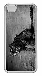 iPhone 5C Case, Personalized Custom Tramp Cat for iPhone 5C PC Clear Case