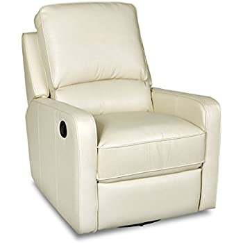 Amazoncom Swivel Glider Leather Recliner Chair Kitchen Dining