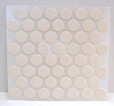 Fastcap Adhesive Cover Caps Pvc Antique White 9/16 (1 Sheet 52 Caps) by Fastcap by Fastcap