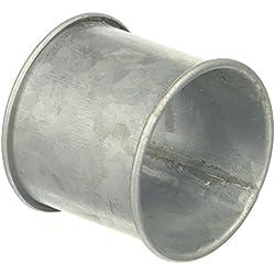 "SARO LIFESTYLE Galvanized Design Rustic Style Metal Napkin Ring (Set of 4), 2.5"" x 3.5"", Silver"