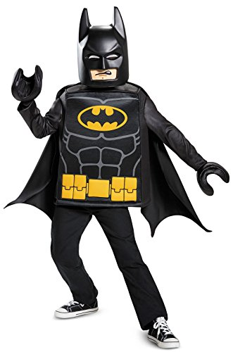 [Batman LEGO Movie Classic Costume, Black, Medium (7-8)] (B Boy Costume)