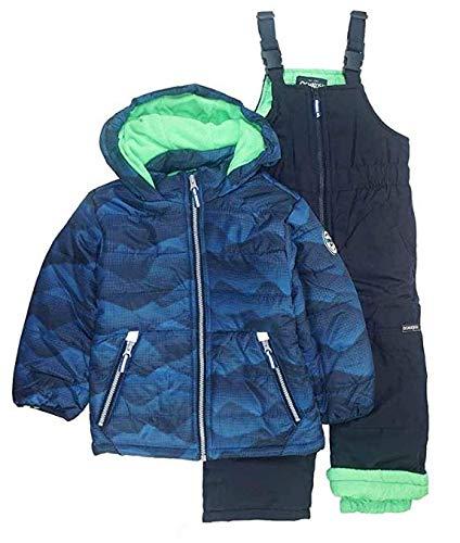 Osh Kosh Boys' Ski Jacket and Snowbib Snowsuit Set (Blue Print, 4) by OshKosh B'Gosh