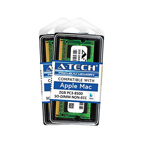 - A-Tech for Apple 4GB Kit (2X 2GB) DDR3 1067MHz / 1066MHz PC3-8500 SODIMM Late 2008, Early/Mid/Late 2009, Mid 2010 - MacBook, MacBook Pro, iMac, Mac Mini Memory RAM Upgrade
