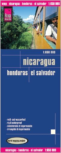 Nicaragua, Honduras & El Salvador 1:650,000 Travel Map, waterproof, GPS-compatible REISE Map – Folded Map, 2014 Reise KnowHow 9781553421 Travel - Americas