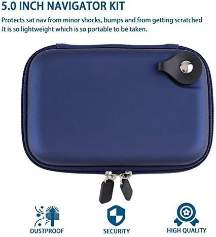 CloverUS Large Hard Carry Case Cover 5 in Car Sat Nav Holder for GPS Tomtom Classic