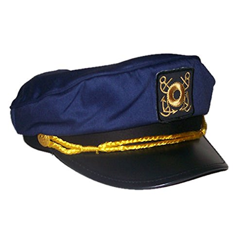 Adult Deluxe Yacht Captain Sailor Hat Adjustable