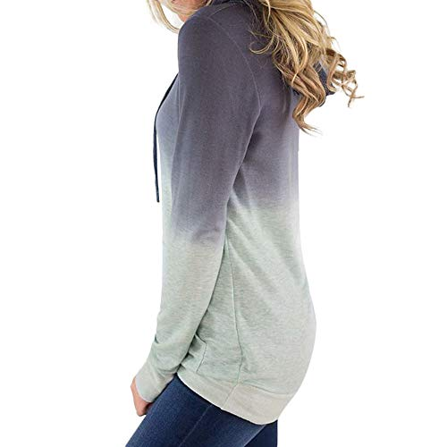 Con Verde Sylar Caliente Largas Mujer Bolsillo Invierno Manga Larga Simple Grueso Abrigo Jersey Moda Pullover Outwear Gradiente Sudaderas Capucha nzzUvxIr