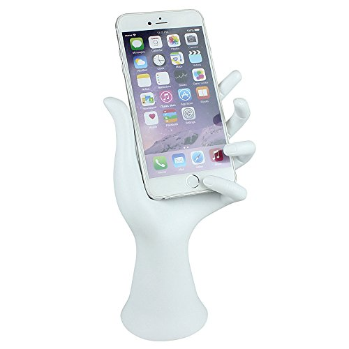 JewelryNanny Smartphone Hand Stand Phone Display Holder Universal for iPhone iWatch Android Cell Phones, White from JewelryNanny