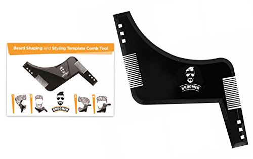 Price comparison product image Premium Beard Shaping and Styling Template Comb Tool