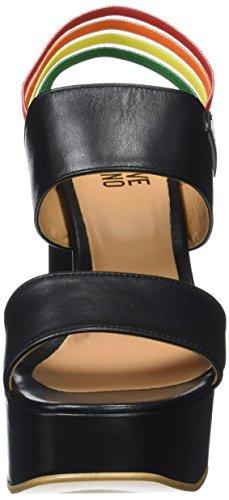 Ja1620 Cuñas Negro Sandalias Moschino Y Con Tacón Love Mujer qfgwv5x
