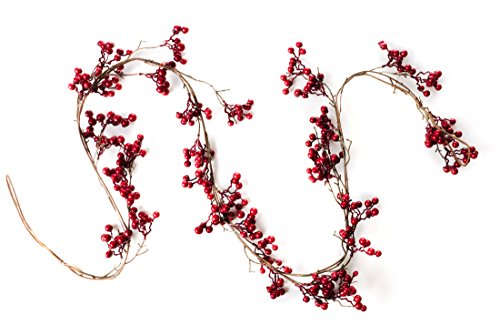 6 Foot Red Berry Garland - Perfect to Bring Holiday Cheer into Your Home This Season by CraftMore (Image #2)