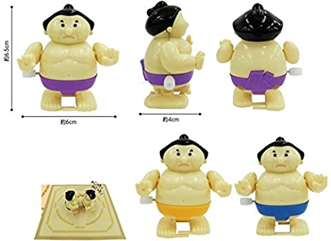 Sumo Wrestler Wind up Toy Pack of 2 (Wind Up Wrestlers)