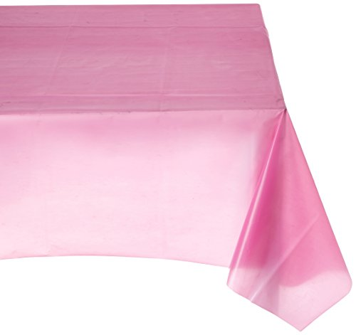 amscan Bright Pink Rectangular Plastic Table Cover | Party Tableware