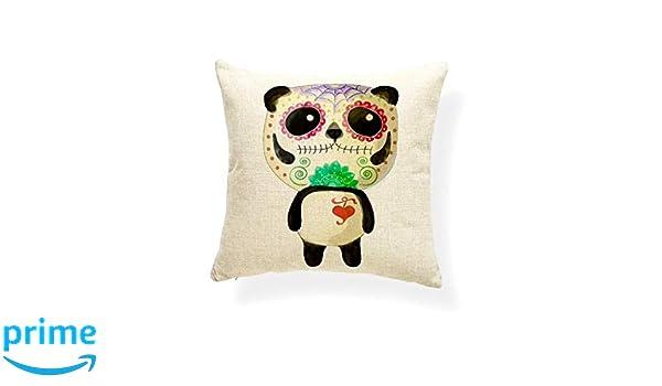 KUSTOM FACTORY - Cojín Vintage de Panda, Tatuajes de Santa Muerte ...