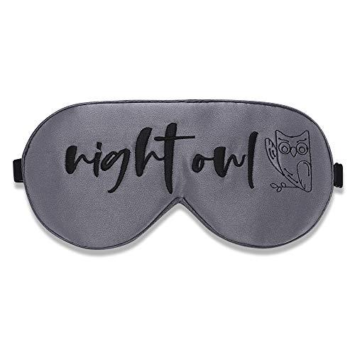 Alaska Bear Natural Silk Sleep Mask, Blindfold, Super Smooth Eye Mask (Night Owl)