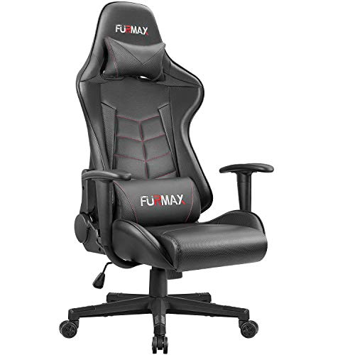 Furmax Gaming Office Chair Ergonomic High-Back Racing Style Adjustable Height Executive Computer Chair,PU Leather Swivel Desk Chair with Backrest and Lumbar Support (Black) Review