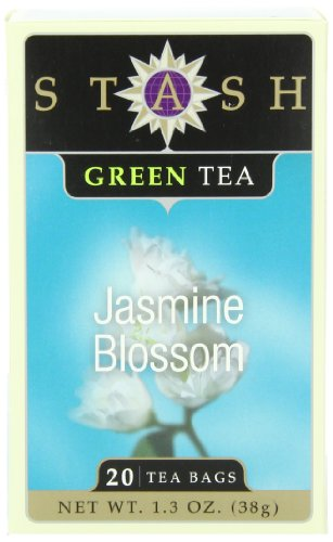 Stash Tea Jasmine Blossom Green Tea, 20 Count Tea Bags in Foil (Pack of 6)