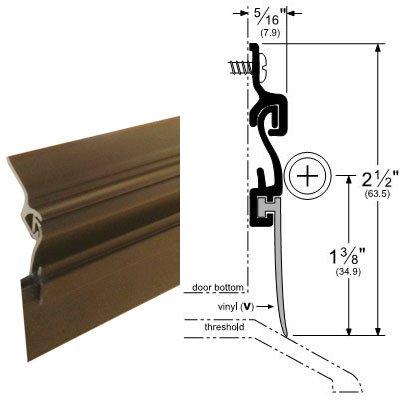 Dark Bronze Residential Automatic Door Sweep for 36'' Door