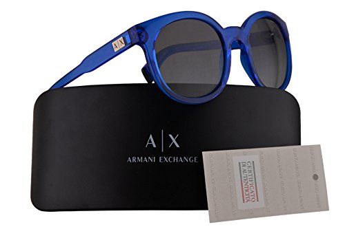 Armani Exchange AX4057S Sunglasses Transparent Light Blue w/Grey Gradient 53mm Lens 821011 AX 4057S - Exchange Armani Cheap Sunglasses