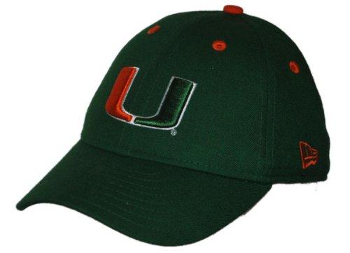 Miami Hurricanes New Era Dark Green Fitted Concealer Hat Cap (7 1/8)