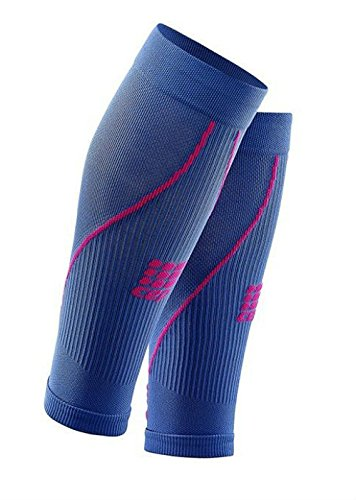 CEP Women's Progressive+ Compression Calf Sleeves 2.0 for Running, Cross Training, Fitness, Calf Injuries, Shin Splits, Recovery, and Athletics, 20-30mmHg Compression, Purple Blue/Pink, Size IV ()