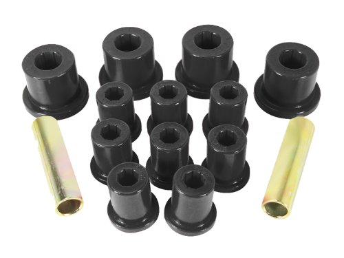 Prothane 1-1003-BL Black Rear Spring Eye and Shackle Bushing Kit for Jeep CJ5 and CJ7