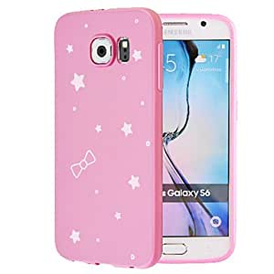 qyf First Love Under the Stars TPU Soft Cover for Samsung Galaxy S6(Assorted Colors) , Pink
