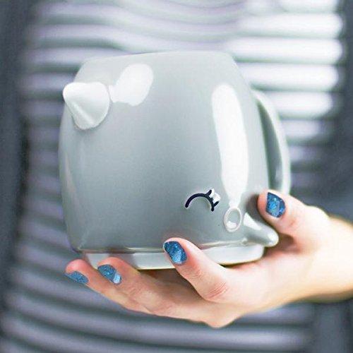 Best-selling Grey Narwhal Ceramic Coffee Mug Unicorn the Sea