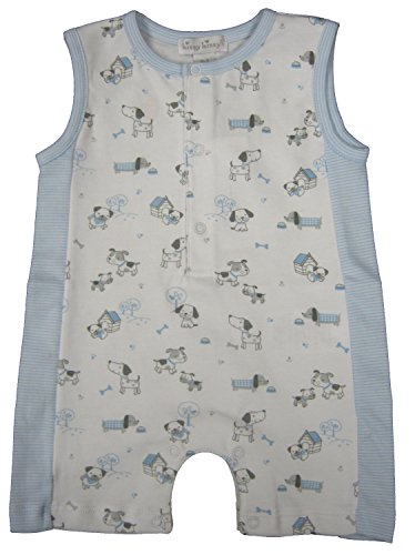 Kissy Kissy Baby-Boys Infant Dog's Day Out Print Sleeveless Short Playsuit