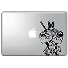 FocEnterprises DEADPOOL UPPER BODY MARVEL SUPERHERO - VINYL DECAL STICKER FOR MACBOOK / LAPTOP / NOTEBOOK / CAR / WINDOW