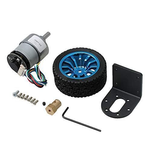 Yibuy Encoder Electric Micro Speed Reduction Geared Motor Gearbox Set 800rpm