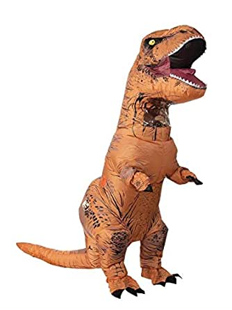 Rubie's Adult Official Jurassic World Inflatable Dinosaur Costume, T-Rex, Plus
