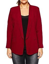 Women's Long Sleeve Open Front Business Jacket Suit Plus Size