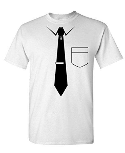 GOOZLER NECKTIE Mens Cotton T Shirt