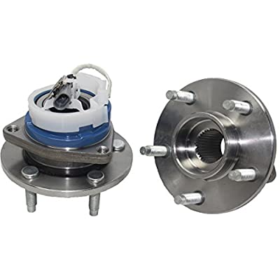 Brand New (Both) Front Wheel Hub and Bearing Assembly for Buick, Cadillac, Chevy, Oldsmobile, Pontiac 5 Lug W/ABS (Pair) 513179 x2: Automotive