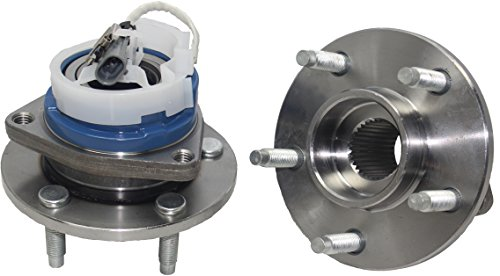 DETROIT AXLE -Brand New (Both) Front Wheel Hub and Bearing Assembly for Allure, Century, LaCrosse, LeSabre, Park Avenue 5 Lug W/ABS (Pair) 513121 ()