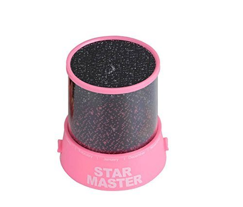 Generic Colorful Twilight Romantic Sky Star Master Projector Lamp Starry LED Night Light Kids Bedroom Bed Light for Christmas Light (Pink)