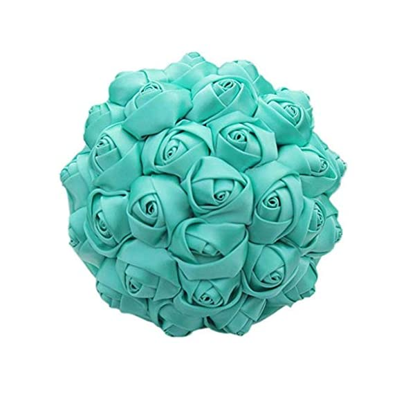 Flonding-Handmade-Wedding-Bouquets-Bride-Bridal-Silk-Rose-Satin-Ribbon-Handle-Bouquet-Romantic-Bridesmaid-Holding-Flowers-for-Valentines-Day-Confession-Church-Turquoise-Dia-15cm