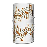 Unisex Stylish Notes Music Melody Colorfull Musician Symbols Sound Text Writting Audio Quick Dry Headwear Outdoor Magic Bandana Headband